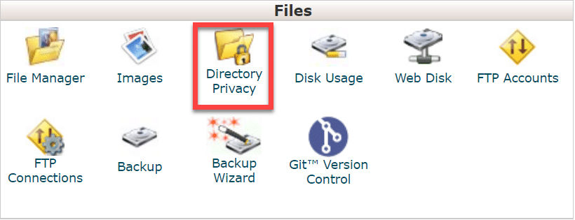 cpanel_directory_privacy